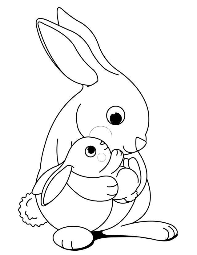 kaninchen ausmalbilder  malvorlagen  100 kostenlos