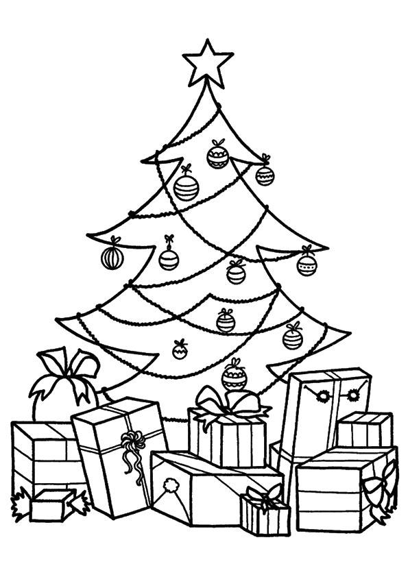 weihnachtsbaum ausmalbilder  malvorlagen  100 kostenlos