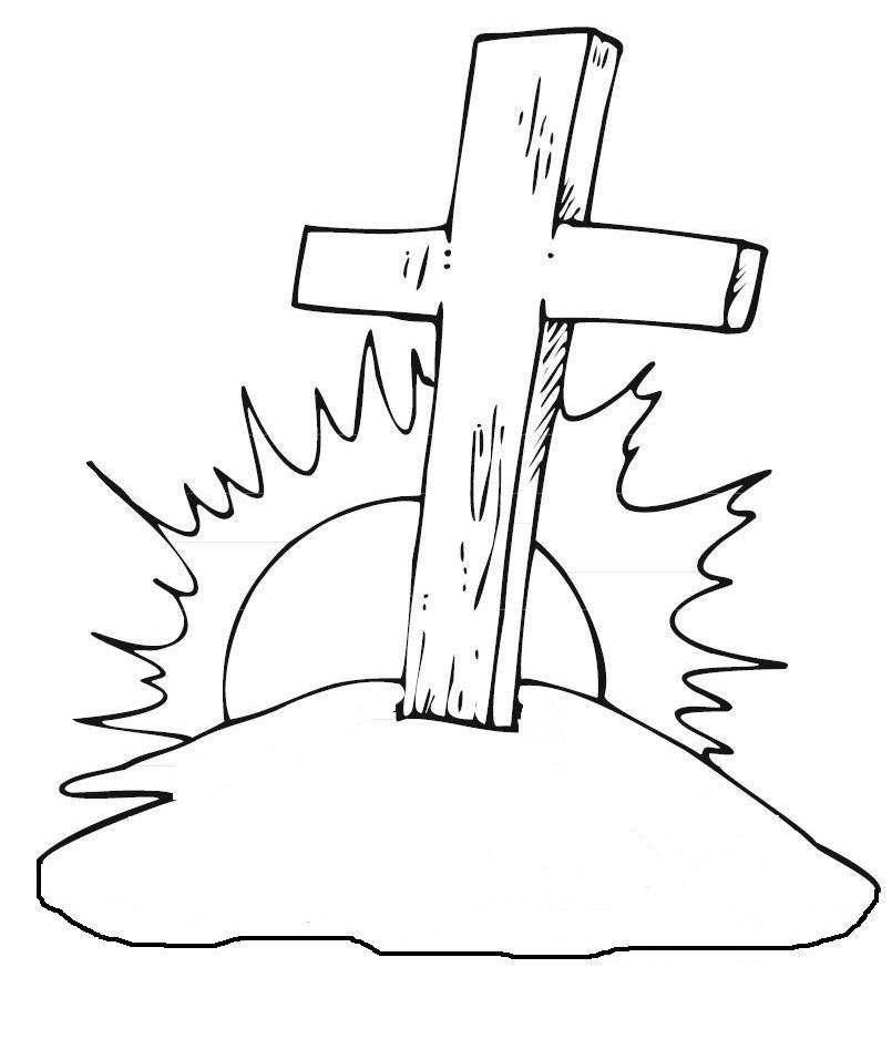 Ausmalbild Kreuz