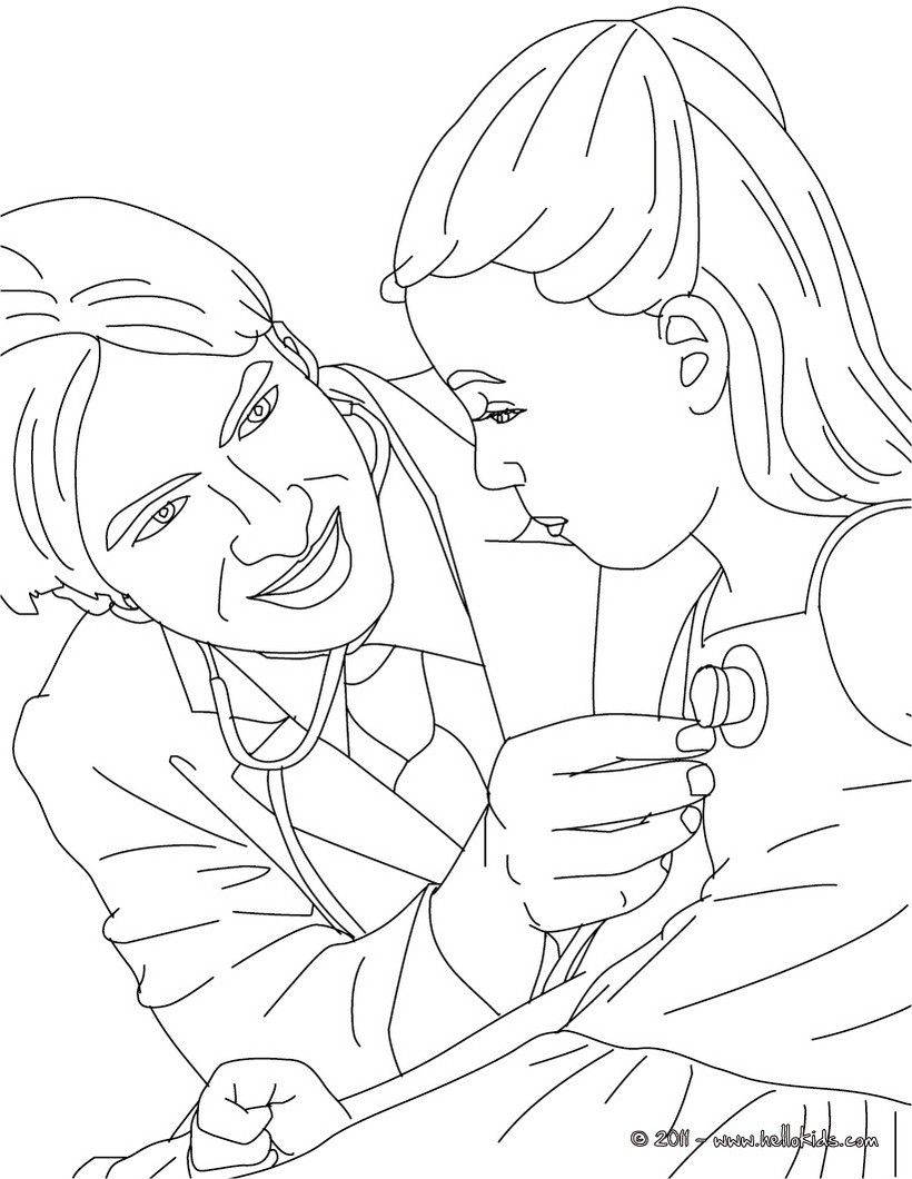 doktor  arzt ausmalbilder  malvorlagen  100 kostenlos