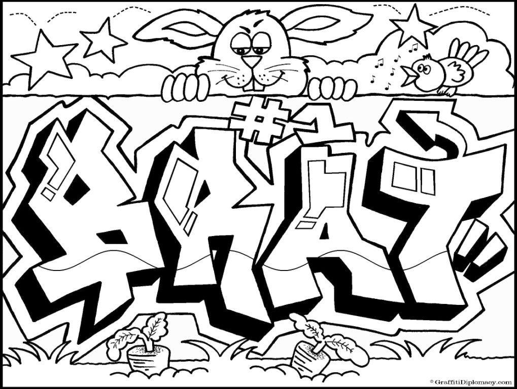 graffiti ausmalbilder  malvorlagen  100 kostenlos