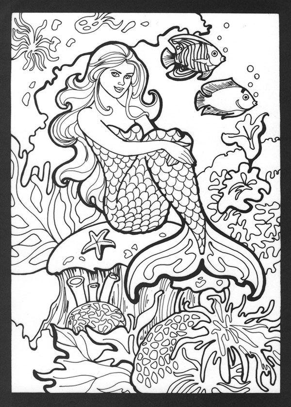 meerjungfrau ausmalbilder  malvorlagen  100 kostenlos