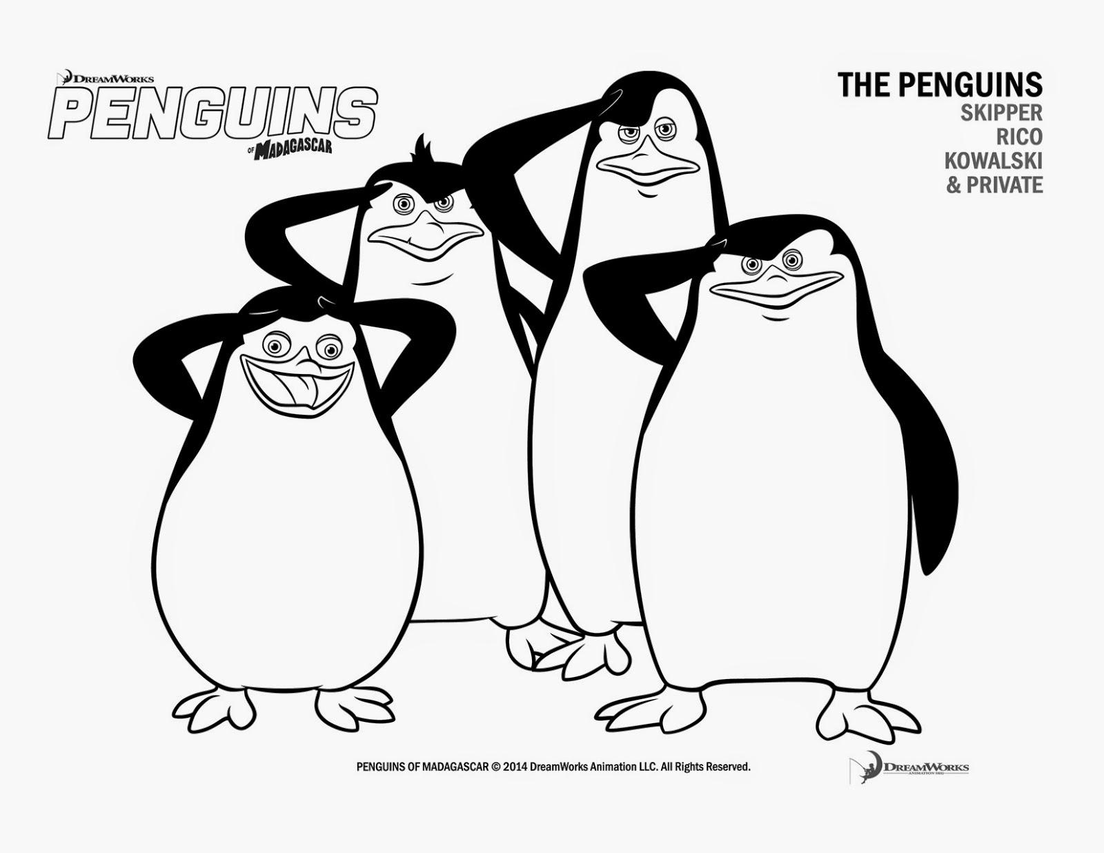 ▷ Die Pinguine aus Madagaskar: Ausmalbilder & Malvorlagen - 30
