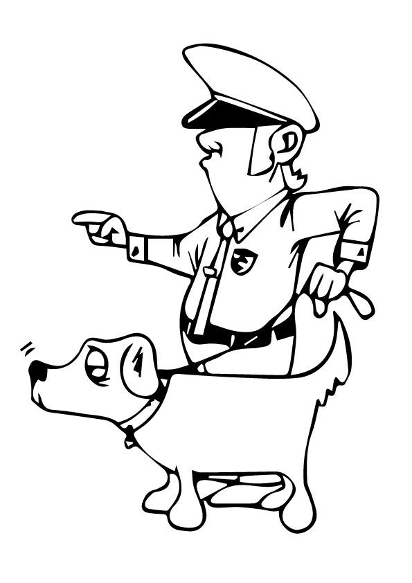 polizei: ausmalbilder & malvorlagen - 100% kostenlos