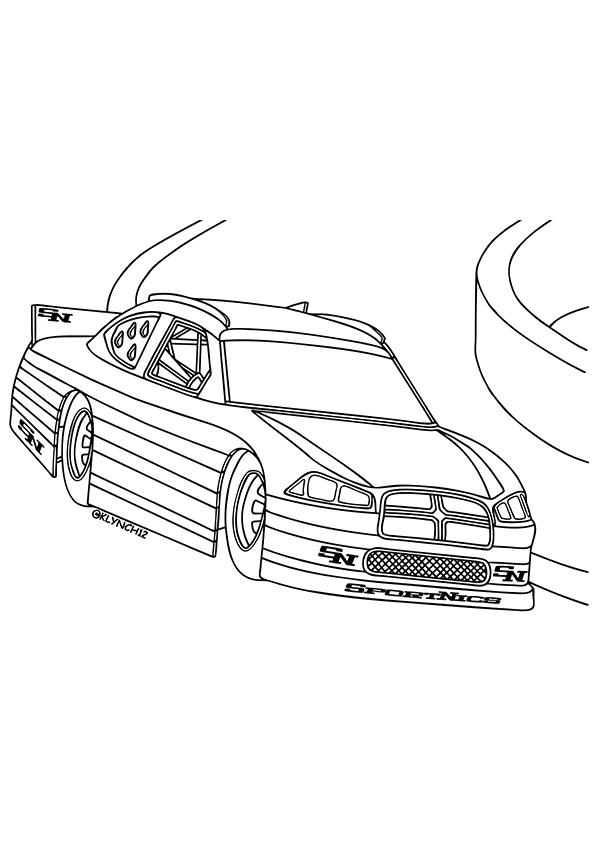 rennauto: ausmalbilder & malvorlagen - 100% kostenlos
