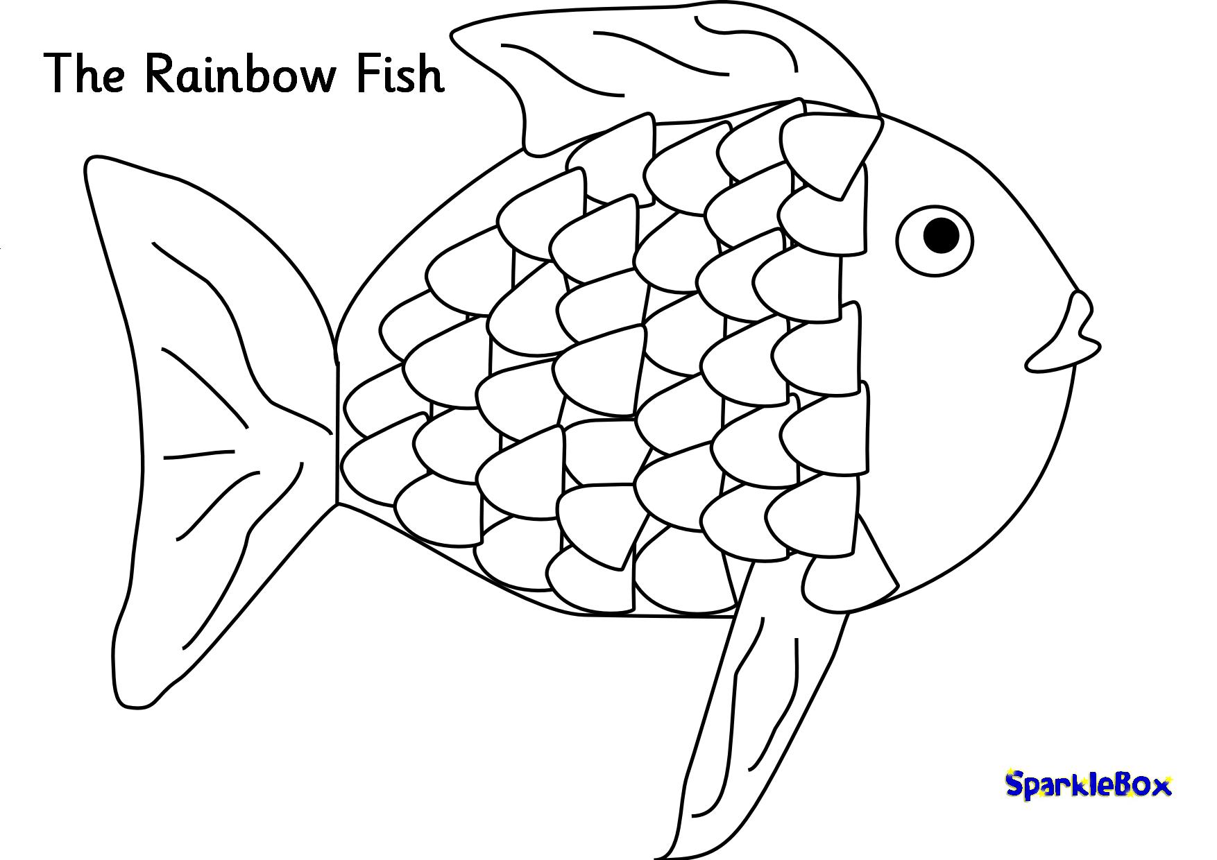 regenbogenfisch ausmalbild kostenlos  kinder ausmalbilder