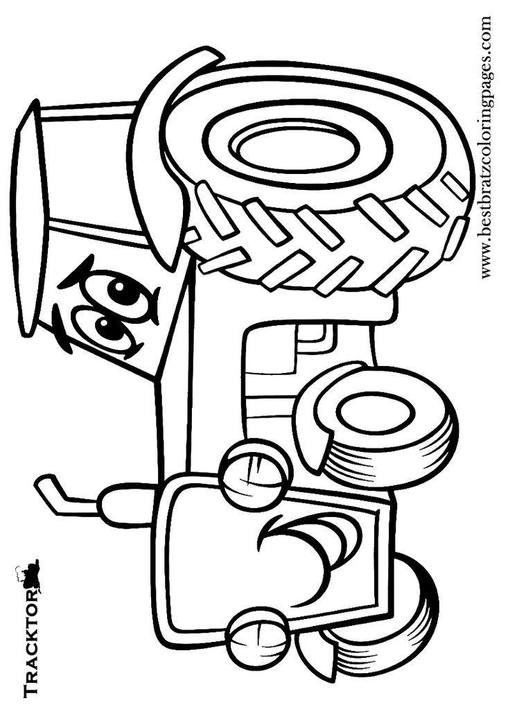 traktor  trecker ausmalbilder  malvorlagen  100 kostenlos