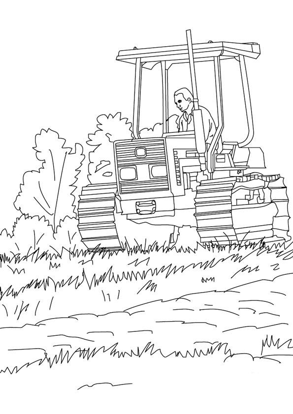 traktor & trecker: ausmalbilder & malvorlagen - 100% kostenlos