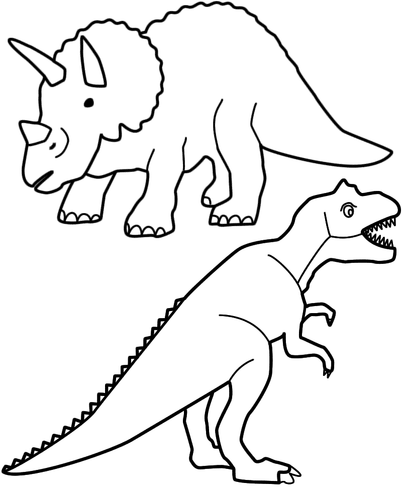 t-rex: ausmalbilder & malvorlagen - 100% kostenlos