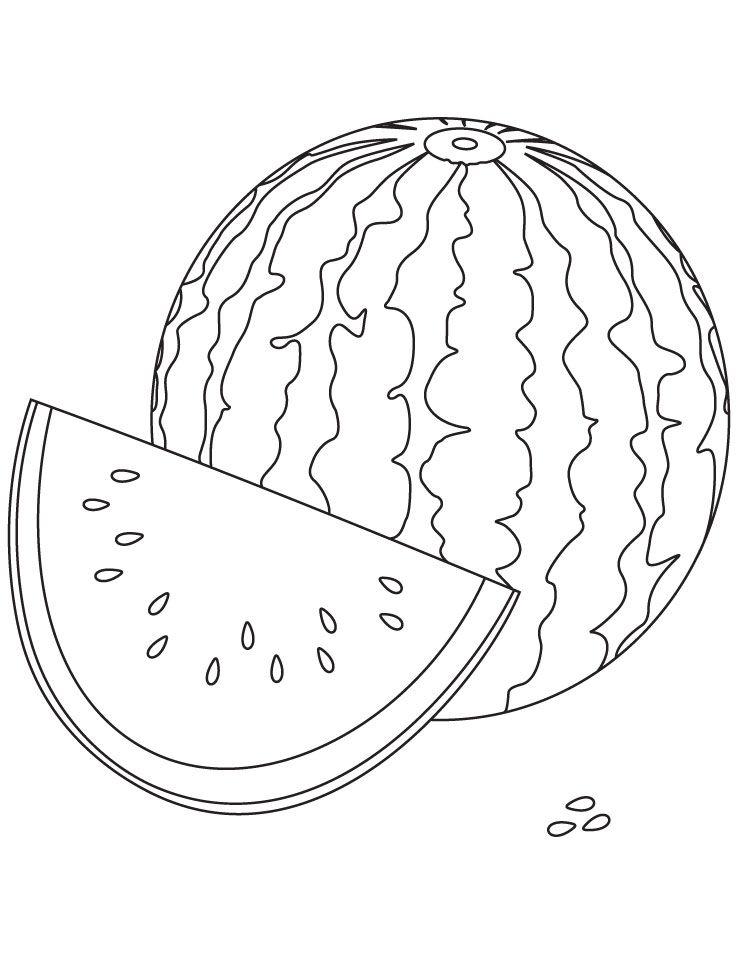 wassermelone ausmalbilder  malvorlagen  100 kostenlos