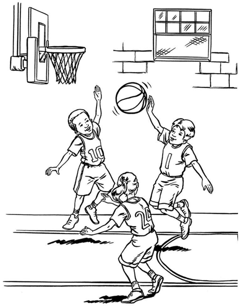 Ausmalbilder Basketball