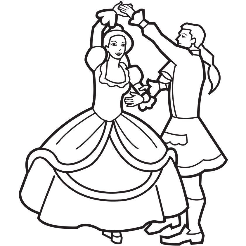 Prinz & Prinzessinn Ausmalbilder