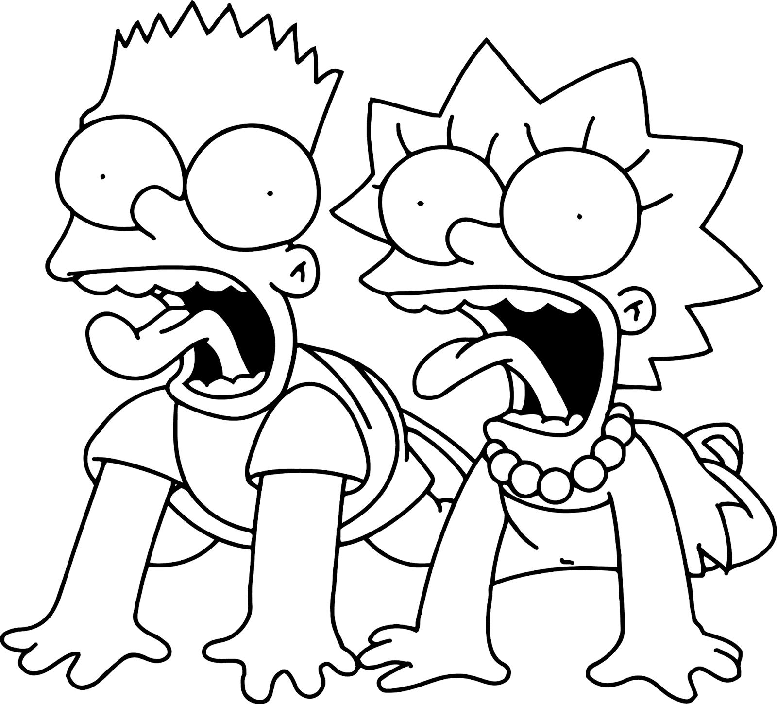 ▷ Simpsons: Ausmalbilder & Malvorlagen - 19% KOSTENLOS