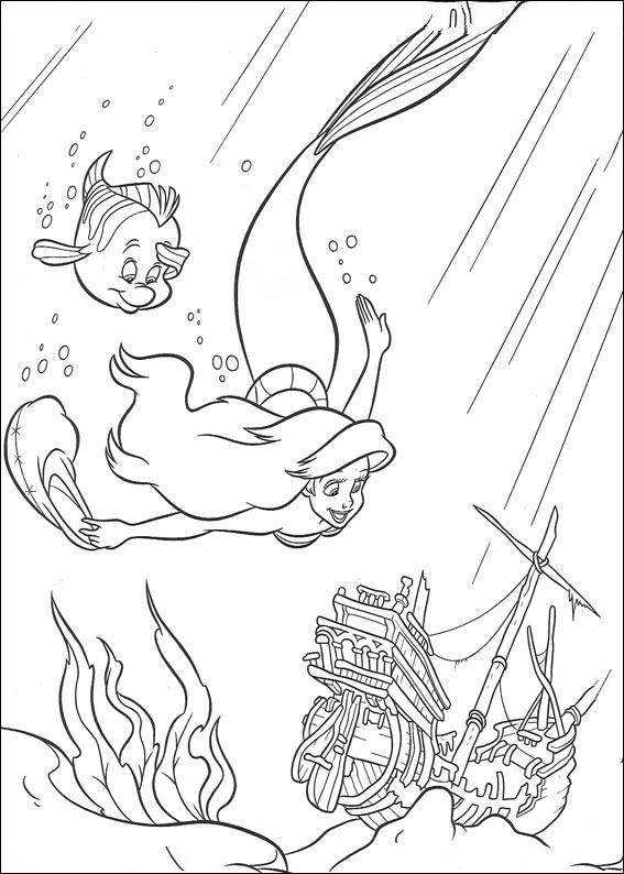 arielle die meerjungfrau ausmalbilder  malvorlagen  100
