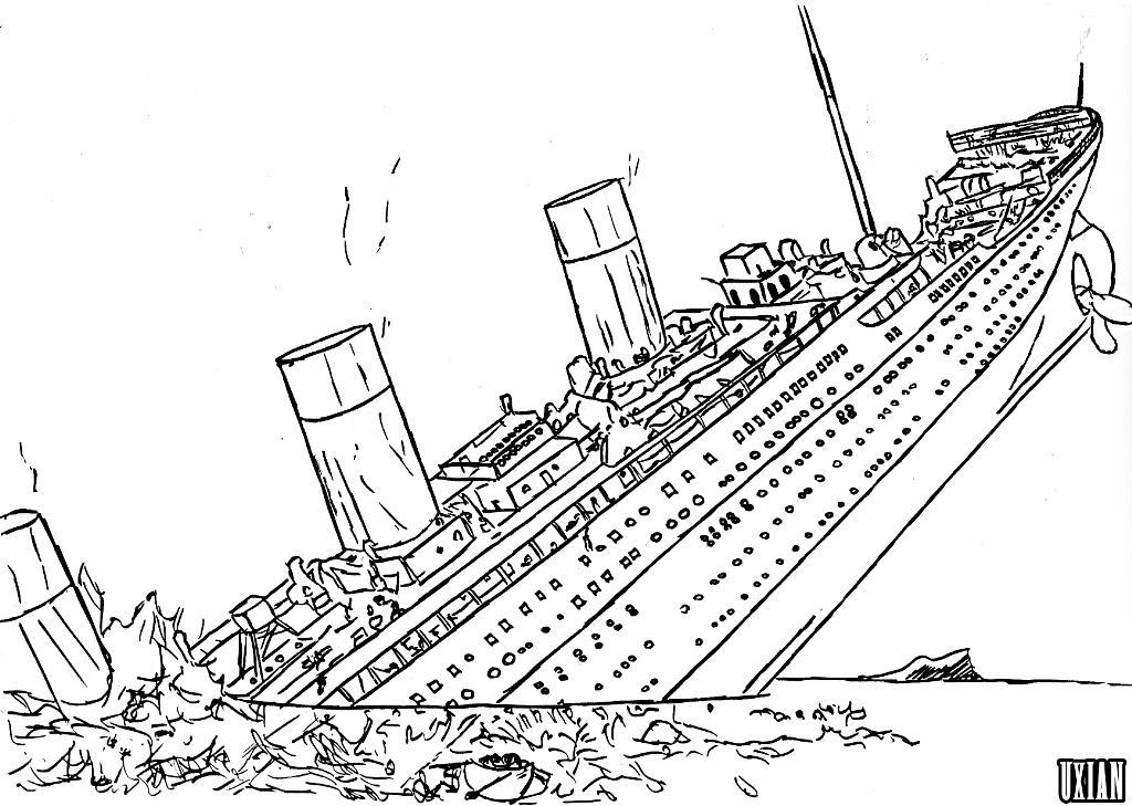 Titanic: Ausmalbilder & Malvorlagen - 100% KOSTENLOS